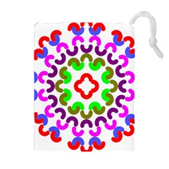Decoration Red Blue Pink Purple Green Rainbow Drawstring Pouches (Extra Large)