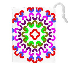 Decoration Red Blue Pink Purple Green Rainbow Drawstring Pouches (xxl)