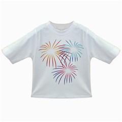 Fireworks Orange Blue Red Pink Purple Infant/Toddler T-Shirts