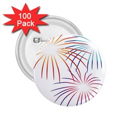 Fireworks Orange Blue Red Pink Purple 2.25  Buttons (100 pack)