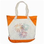 Fireworks Orange Blue Red Pink Purple Accent Tote Bag Front