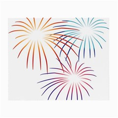 Fireworks Orange Blue Red Pink Purple Small Glasses Cloth (2-Side)