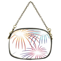 Fireworks Orange Blue Red Pink Purple Chain Purses (two Sides)