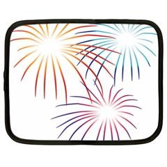 Fireworks Orange Blue Red Pink Purple Netbook Case (XXL)