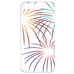 Fireworks Orange Blue Red Pink Purple Apple iPhone 5 Classic Hardshell Case