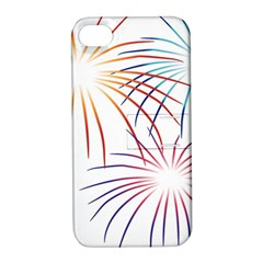 Fireworks Orange Blue Red Pink Purple Apple iPhone 4/4S Hardshell Case with Stand