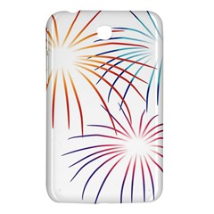 Fireworks Orange Blue Red Pink Purple Samsung Galaxy Tab 3 (7 ) P3200 Hardshell Case