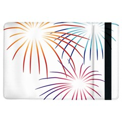 Fireworks Orange Blue Red Pink Purple iPad Air Flip
