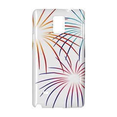 Fireworks Orange Blue Red Pink Purple Samsung Galaxy Note 4 Hardshell Case