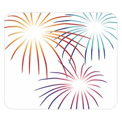 Fireworks Orange Blue Red Pink Purple Double Sided Flano Blanket (Small)