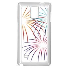 Fireworks Orange Blue Red Pink Purple Samsung Galaxy Note 4 Case (white)