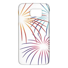 Fireworks Orange Blue Red Pink Purple Galaxy S6