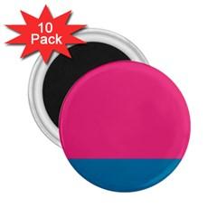 Flag Color Pink Blue 2 25  Magnets (10 Pack)