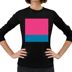 Flag Color Pink Blue Women s Long Sleeve Dark T-Shirts