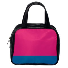Flag Color Pink Blue Classic Handbags (One Side)
