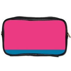 Flag Color Pink Blue Toiletries Bags 2-Side