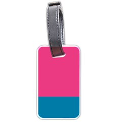 Flag Color Pink Blue Luggage Tags (One Side)