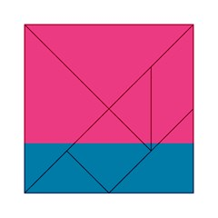 Flag Color Pink Blue Acrylic Tangram Puzzle (6  x 6 )