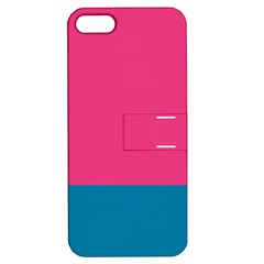 Flag Color Pink Blue Apple iPhone 5 Hardshell Case with Stand
