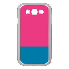 Flag Color Pink Blue Samsung Galaxy Grand DUOS I9082 Case (White)