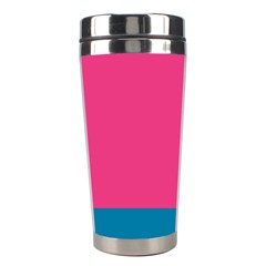 Flag Color Pink Blue Stainless Steel Travel Tumblers