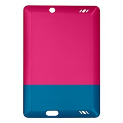 Flag Color Pink Blue Amazon Kindle Fire HD (2013) Hardshell Case