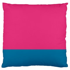 Flag Color Pink Blue Large Flano Cushion Case (One Side)