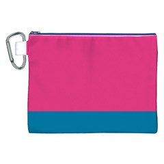 Flag Color Pink Blue Canvas Cosmetic Bag (XXL)