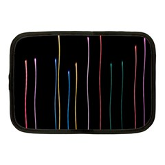 Falling Light Lines Color Pink Blue Yellow Netbook Case (Medium)