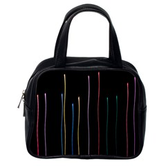 Falling Light Lines Color Pink Blue Yellow Classic Handbags (One Side)