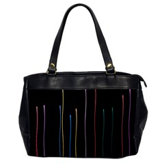Falling Light Lines Color Pink Blue Yellow Office Handbags