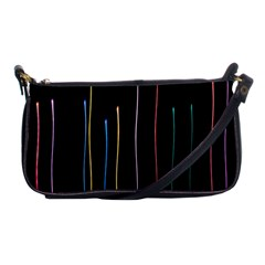 Falling Light Lines Color Pink Blue Yellow Shoulder Clutch Bags