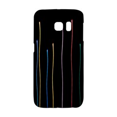 Falling Light Lines Color Pink Blue Yellow Galaxy S6 Edge