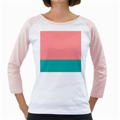 Flag Color Pink Blue Line Girly Raglans