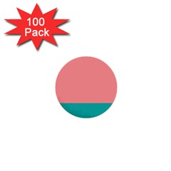 Flag Color Pink Blue Line 1  Mini Buttons (100 Pack)