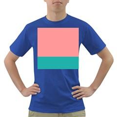 Flag Color Pink Blue Line Dark T-Shirt