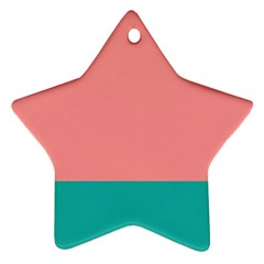 Flag Color Pink Blue Line Star Ornament (Two Sides)