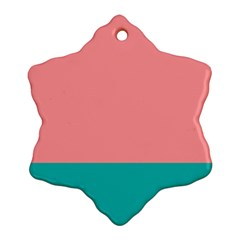 Flag Color Pink Blue Line Snowflake Ornament (two Sides)
