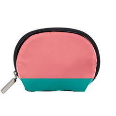 Flag Color Pink Blue Line Accessory Pouches (Small)