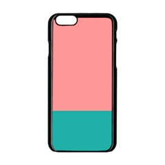 Flag Color Pink Blue Line Apple iPhone 6/6S Black Enamel Case