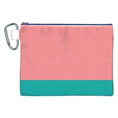 Flag Color Pink Blue Line Canvas Cosmetic Bag (XXL)