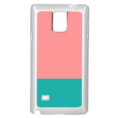 Flag Color Pink Blue Line Samsung Galaxy Note 4 Case (White)