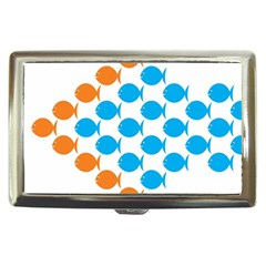 Fish Arrow Orange Blue Cigarette Money Cases