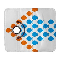 Fish Arrow Orange Blue Galaxy S3 (Flip/Folio)