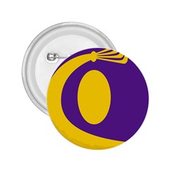 Flag Purple Yellow Circle 2.25  Buttons