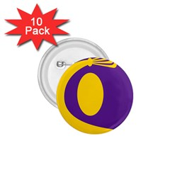 Flag Purple Yellow Circle 1.75  Buttons (10 pack)
