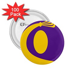 Flag Purple Yellow Circle 2.25  Buttons (100 pack)