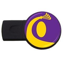 Flag Purple Yellow Circle Usb Flash Drive Round (2 Gb)