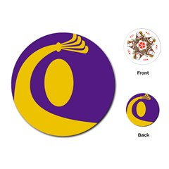 Flag Purple Yellow Circle Playing Cards (Round)