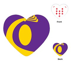 Flag Purple Yellow Circle Playing Cards (Heart)